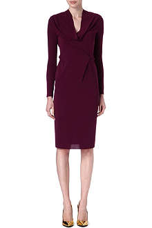 ROLAND MOURET Issorie cowl-neck dress
