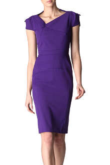 ROLAND MOURET Jesse asymmetric collar dress