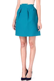 ROLAND MOURET Kava pleated wool skirt