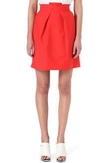 ROLAND MOURET Kava pleated-front skirt