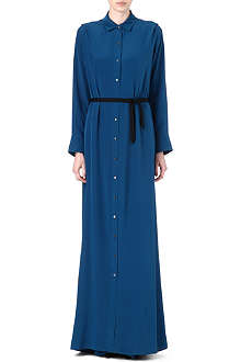 ROLAND MOURET Silk shirt maxi dress