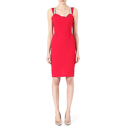 ROLAND MOURET Meissa wool dress (Raspberry