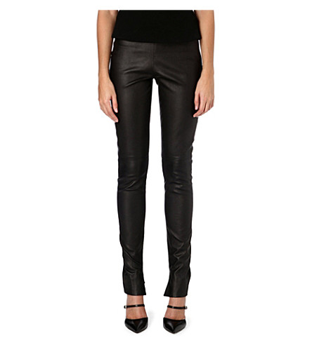 ROLAND MOURET Mortimer leather trousers (Black