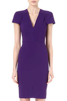 ROLAND MOURET V-neck jersey dress