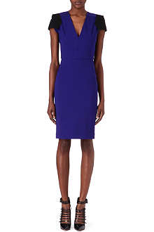ROLAND MOURET Contrast-sleeve dress