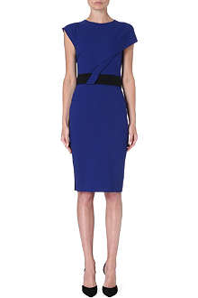 ROLAND MOURET Nepa belted wool-blend dress