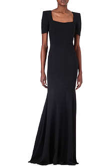 ROLAND MOURET Square-neck gown