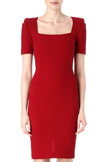 ROLAND MOURET Short-sleeve square-neck dress