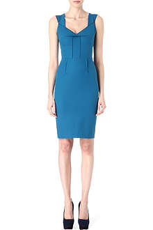 ROLAND MOURET Tie-back sweetheart neckline dress
