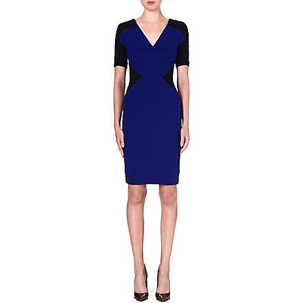 ROLAND MOURET Nabis wool dress (Royal blue/black