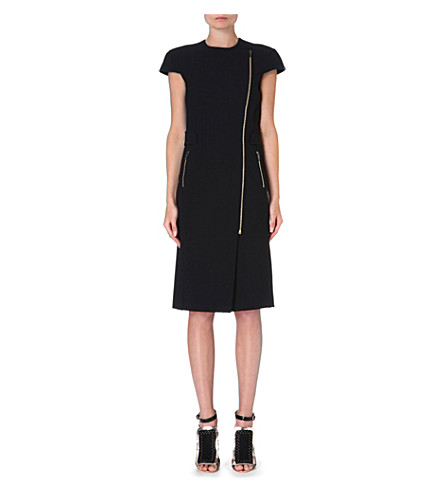 ROLAND MOURET Othius zip-detail dress (Black
