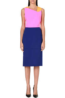 ROLAND MOURET Edulis colour-block wool dress