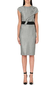 ROLAND MOURET Nepa draped wool-bend dress