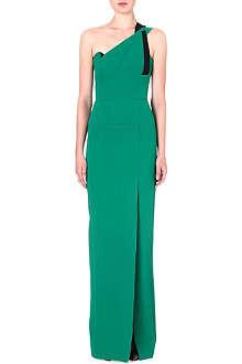 ROLAND MOURET Kowhai asymmetric gown