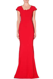 ROLAND MOURET Sitobion cap-sleeved crepe gown