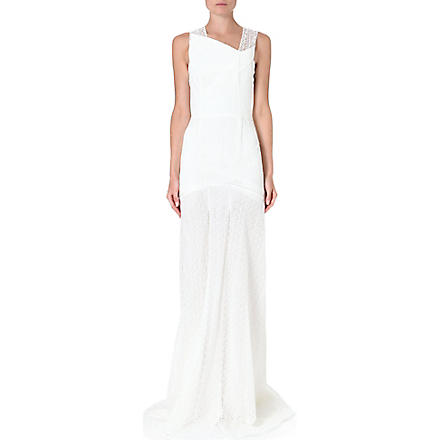 ROLAND MOURET Agrius lace gown (White