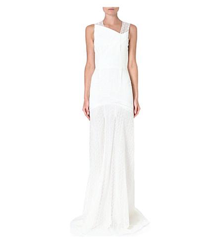 ROLAND MOURET Agrius lace gown (White