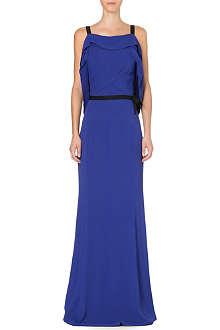 ROLAND MOURET Tinea drape-detail gown