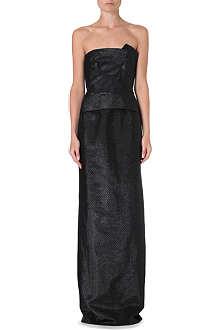 ROLAND MOURET Cimex strapless gown
