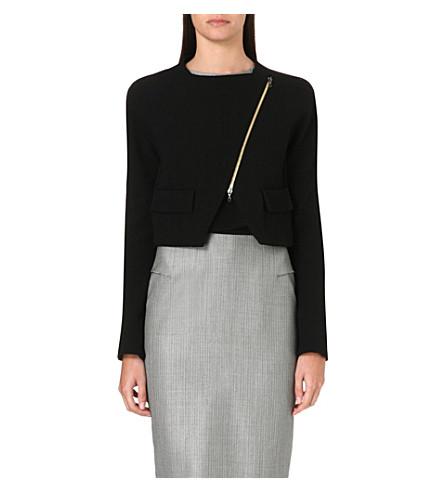 ROLAND MOURET Luciola zip-fastened wool jacket (Black