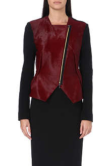 ROLAND MOURET Contrast leather jacket