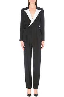 ROLAND MOURET Contrasting silk jumpsuit