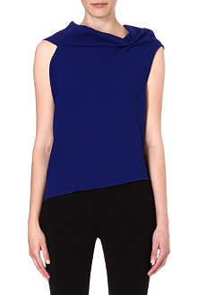 ROLAND MOURET Eugene drape neck wool top