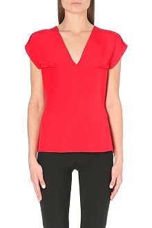 ROLAND MOURET V-neck silk top