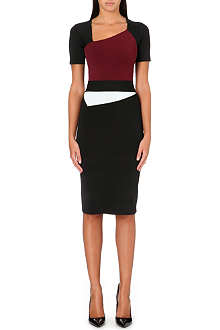 ROLAND MOURET Cassidy colour-blocked dress