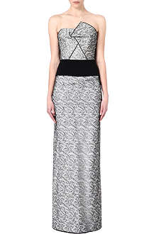 ROLAND MOURET Structured lace gown