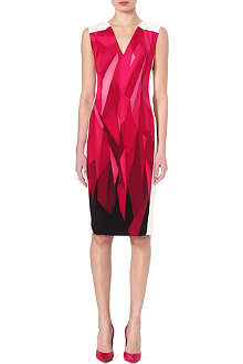 ROLAND MOURET Geometric-print dress