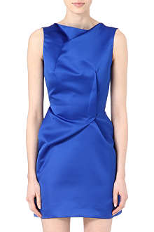 ROLAND MOURET Satin mini dress