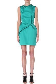 ROLAND MOURET Zonda gathered satin dress