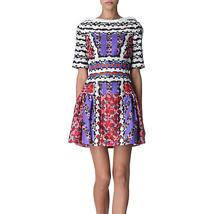 PETER PILOTTO Printed silk-blend dress (Red
