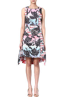 PETER PILOTTO Sequin-embellished tweed and floral dress