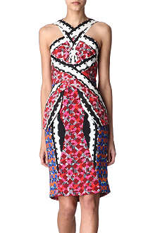 PETER PILOTTO Printed cross-neck dress