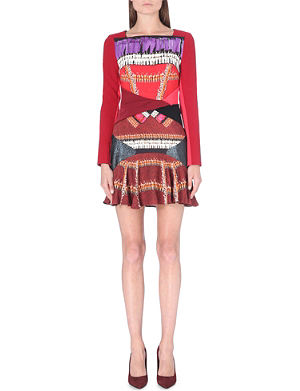 PETER PILOTTO Contrast-panel long-sleeved dress