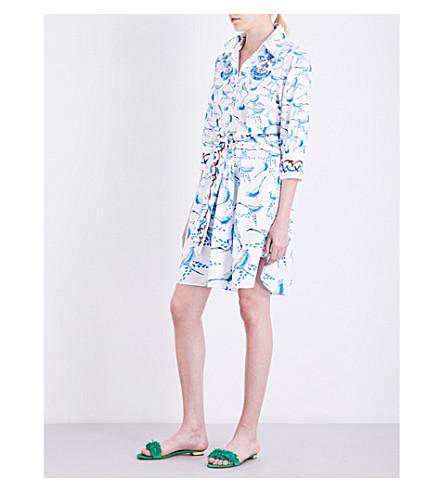 PETER PILOTTO Printed cotton-poplin shirt dress (Bird+white