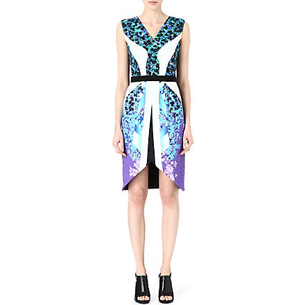 PETER PILOTTO Karlie crepe dress (Growing+blue