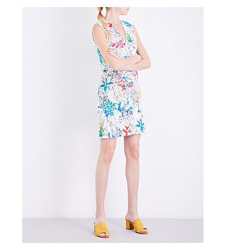 PETER PILOTTO Floral-print crepe dress (White