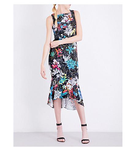 PETER PILOTTO Floral-print crepe dress (Black
