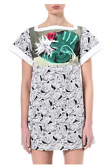 PETER PILOTTO Ikebana silk-blend dress