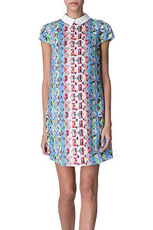 PETER PILOTTO Printed silk-blend dress
