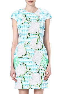PETER PILOTTO Floral-appliqué tweed dress