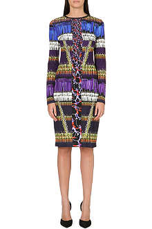 PETER PILOTTO Violet long-sleeved stretch-jersey dress