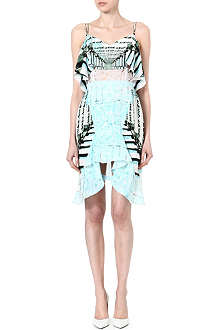 PETER PILOTTO Frilled lace-panel dress