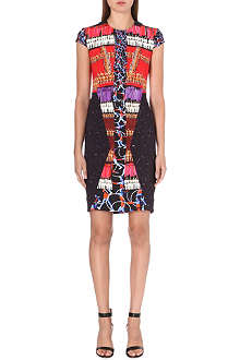 PETER PILOTTO Burgundy gymnast print dress