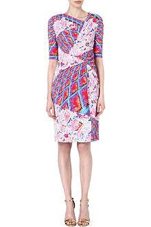 PETER PILOTTO Asymmetric-neckline printed dress