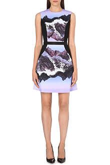 PETER PILOTTO Nova landscape-print satin dress
