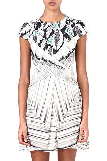 PETER PILOTTO Mira leaf-print silk-blend dress